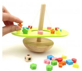Jeu balancier équilibre en bois
