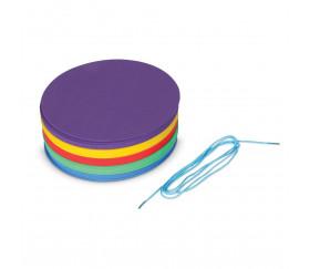 Distanciation sociale - 30 disques colorés 25 cm de diamètre + 1 corde