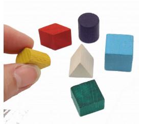 Lot 6 mini formes multicolores