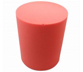 cylindre géant en mousse avec défaut