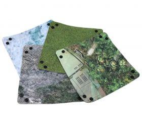 4 Pistes de dés 20 x 20 cm souples et résistantes motif au hasard