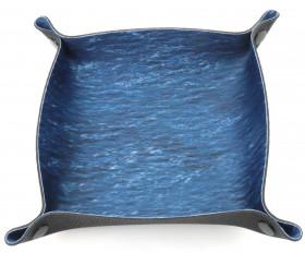Piste de dés bleu océan 20 x 20 cm souple et résistante