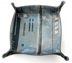 Piste de dés gris Tech profonde 20 x 20 cm souple et résistante