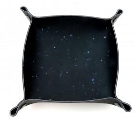 Piste de dés noire nuit étoilée 20 x 20 cm souple et résistante