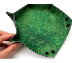 4 Pistes de dés hexagonales 23 x 23 cm souples et résistantes motif au hasard