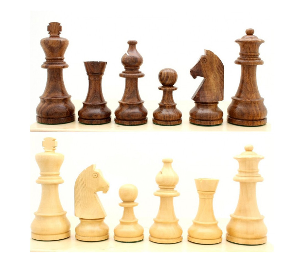 32 Pièces échecs bois T4