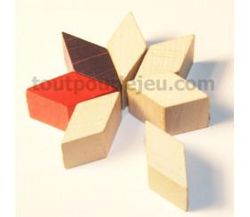 10 Losanges en bois 17 x 15 x 15 mm pour jeu achat en ligne