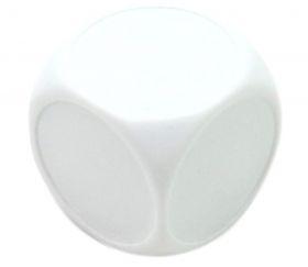 Dé 22 mm plastique blanc neutre face rond