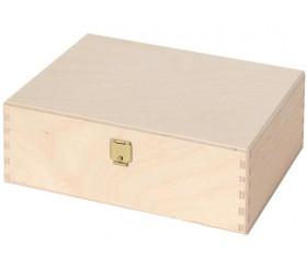 Coffret bois 17 x 13.2 x 6.1 cm charnières pour accessoires de jeux