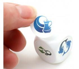70 pastilles rondes 19 mm autocollantes  blanches