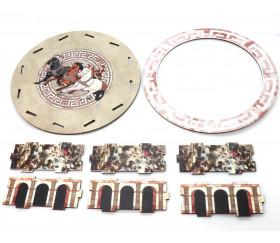 Piste dés Arène en bois 18.9 cm de diamètre livrée à plat Colisée