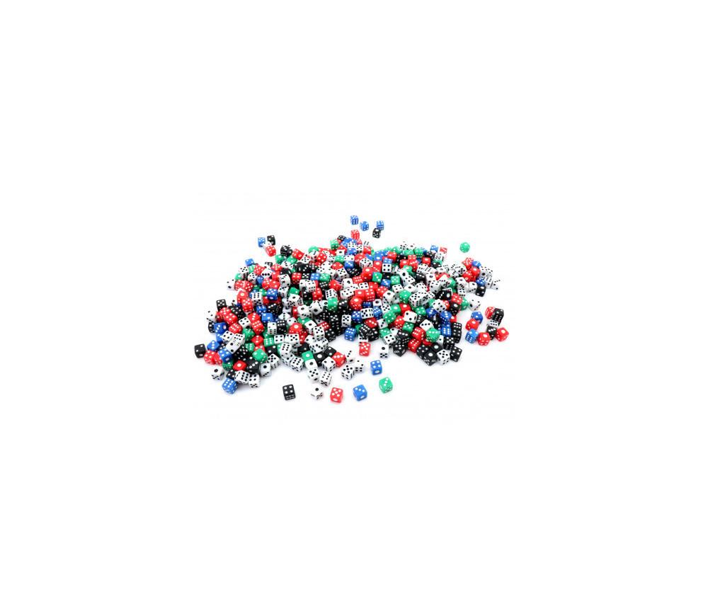 Lot 700 mini dés 5 mm colorés