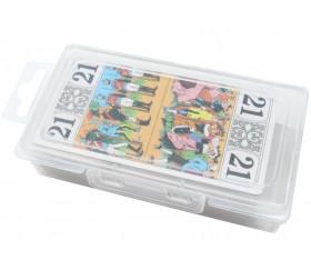 Boite Tarot 130x70x30 mm vide plastique clips transparente