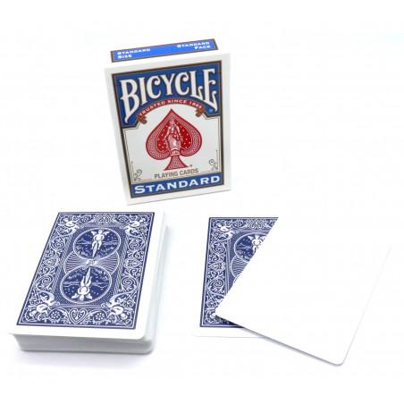 Cartes à jouer recto blanc et verso bleu