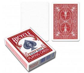 Cartes à jouer recto blanc et verso rouge Bicycle