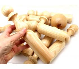 Jeu 9 Quilles bois verni de 24 cm + 2 boules en bois