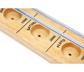 Rolling ball en bois thème planète 52 cm