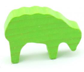 Pion mouton vert clair 40x28x10 mm en bois pour jeu de société