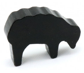 Pion mouton noir 40x28x10 mm en bois pour jeu de société