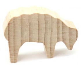 Pion mouton naturel 40x28x10 mm en bois pour jeu de société