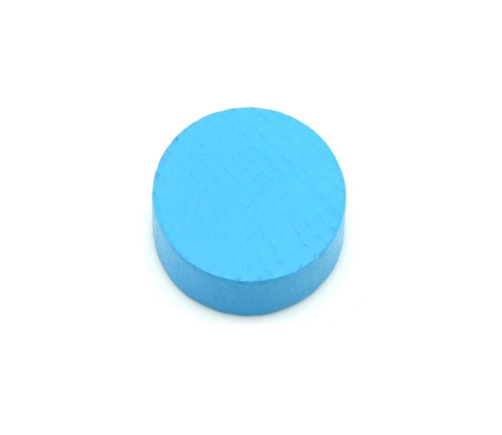 Pion palet bleu clair 2.1 cm en bois pour jeu 21 x 7 mm