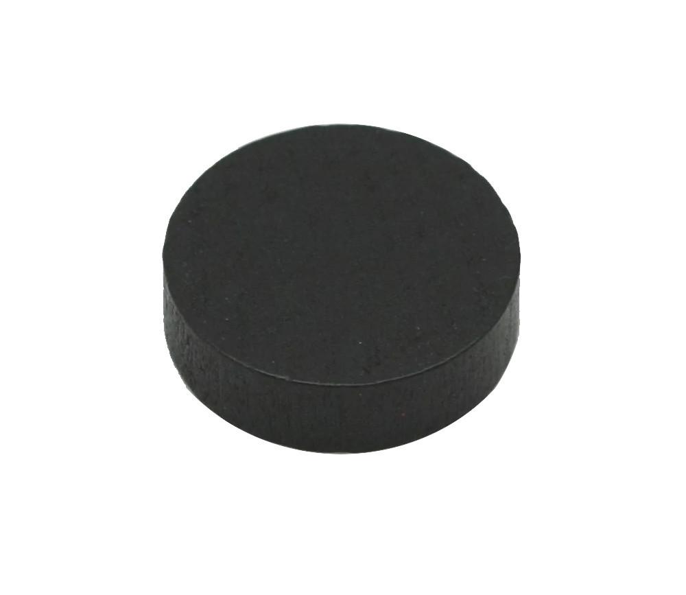 Pion palet noir 2.1 cm en bois pour jeu 21 x 7 mm