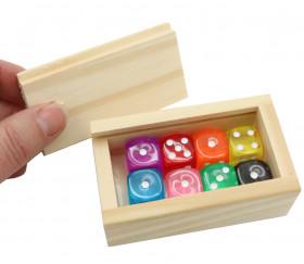 Mini coffret bois avec glissière pour accessoires jeux  8.3 x 5.1 x 2.7 cm