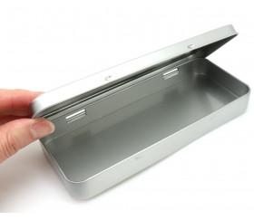 Boite à crayons étui métal avec couvercle 180 x 77 x 22 mm