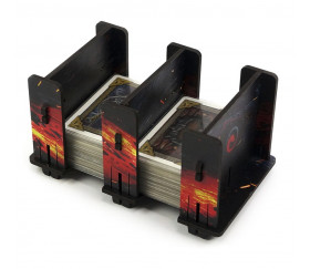 Sabot double noir lave 2S FullPrint pour jeu de cartes 42 x 64 mm