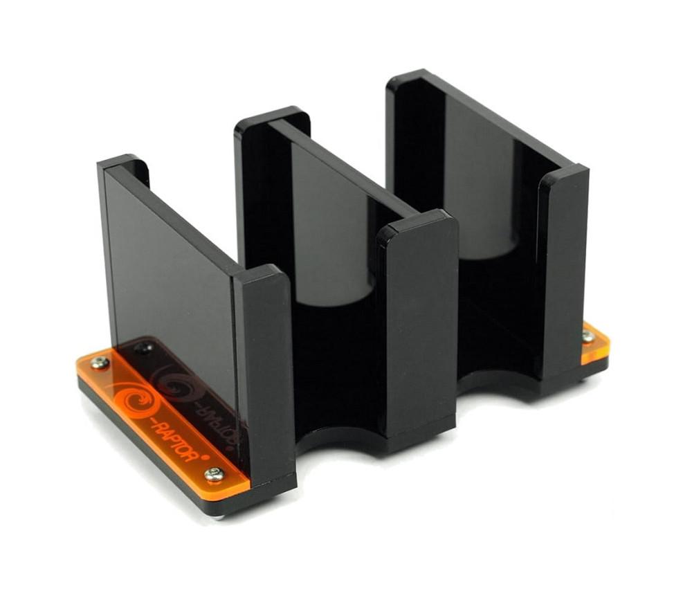Sabot double plexiglass noir pour jeu de mini cartes