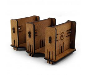 Sabot double en bois MDF distributeur de petites cartes
