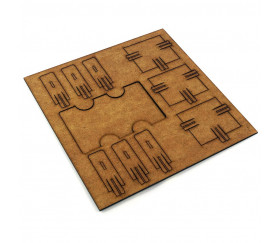 Sabot double en bois 2S MDF distributeur de petites cartes