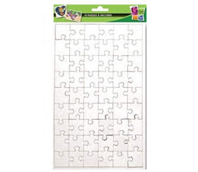 10 Puzzles carton blanc 54 pièces à personnaliser 240 x 160 mm