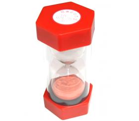 Grand Sablier 30 secondes - 16 cm de haut super lisible rouge