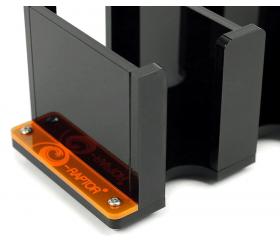 Sabot double plexiglass noir pour mini cartes de jeu