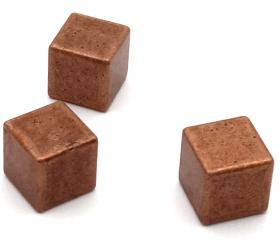 Cube métal bronze 8 x 8 x 8 mm à l'unité