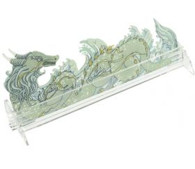 Porte cartes plexiglass dragon 21 cm