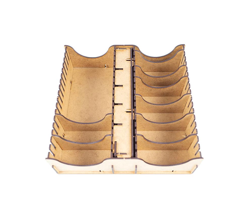 Rangement intérieur à compartiments pour jeux de société (boite de 25x25 cm)