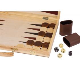 Coffret échec / Backgammon 50 x 44 cm en bois jeux pliable