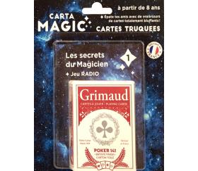 Magie : 56 cartes à jouer truquées Radio - Cartamagic