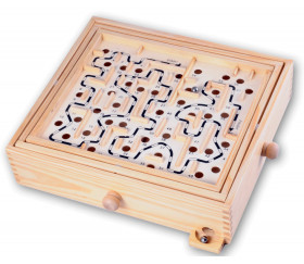 Jeu Grand Labyrinthe en bois 34 x 30 x 8 cm