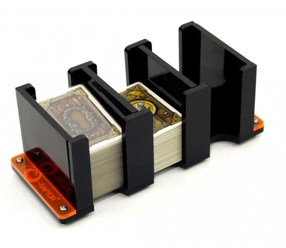 Sabot 3 compartiments mini cartes 42x68 mm plexiglas noir