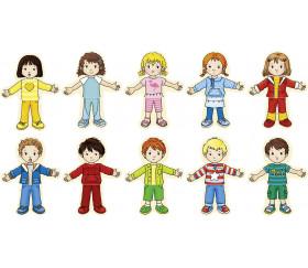 Coffret 2 enfants à habiller - Puzzles - 36 pièces