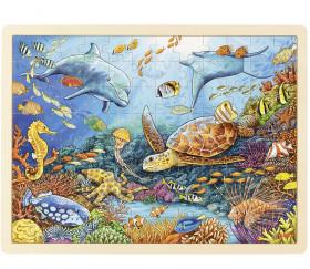 Puzzle en bois 96 pièces Océan Grande barrière de Corail