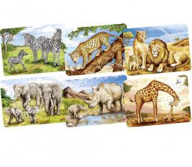 Petit puzzle en bois Animal africain 36 pièces (modèle mis au hasard)