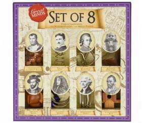 Coffret Hommes célèbres - 8 Casse têtes bois et métal