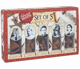 Coffret Femmes célèbres - 5 Casse-têtes en bois