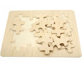 Puzzle bois neutre 15 pièces 29.3 x 21.3 x 6 cm
