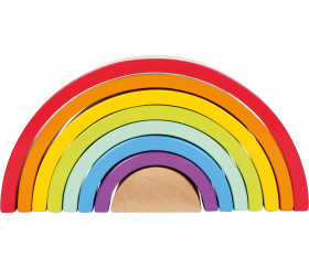 Arc-en-ciel multicolore en bois - 8 pièces