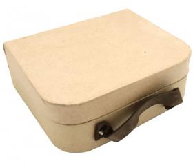 Valisette carton naturel avec anse 16 x 13 x 5 cm